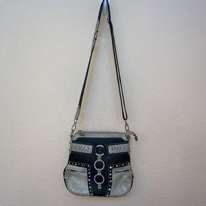 Montana West Black & White Bling Crossbody Bag